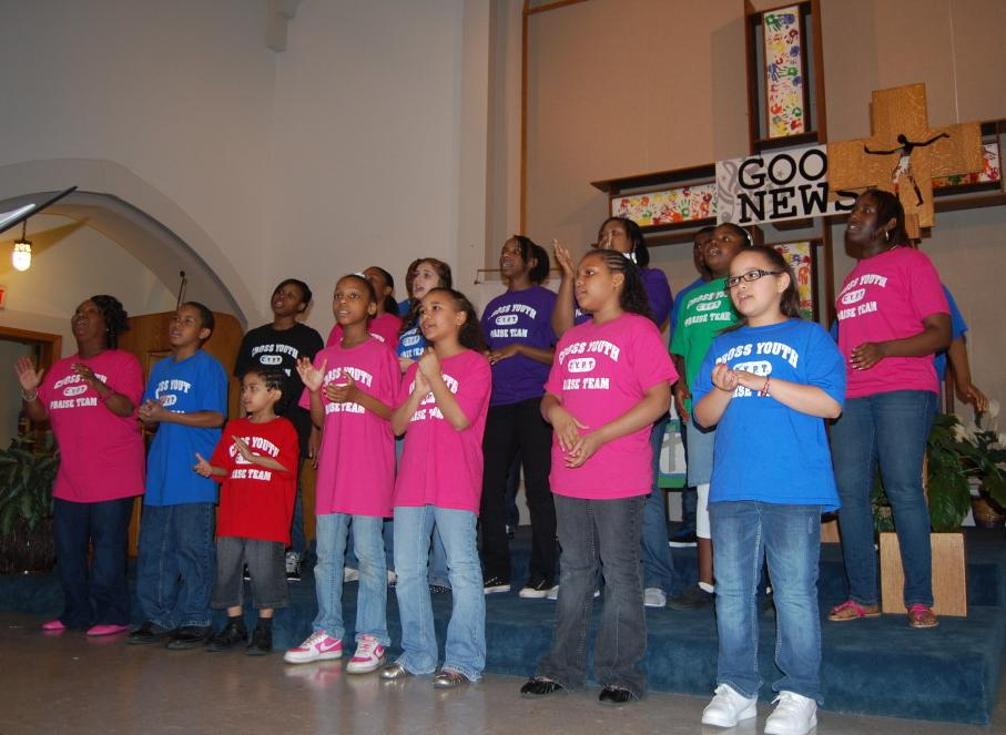 Praise Team at Cross Lutheran